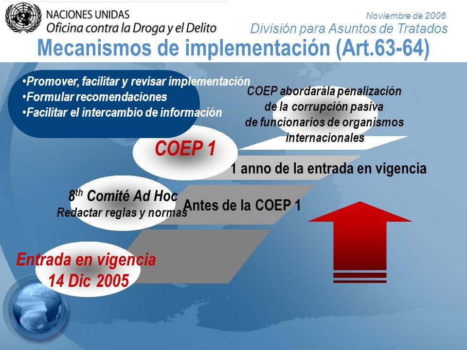 Mecanismos de implementación (Art.63-64)