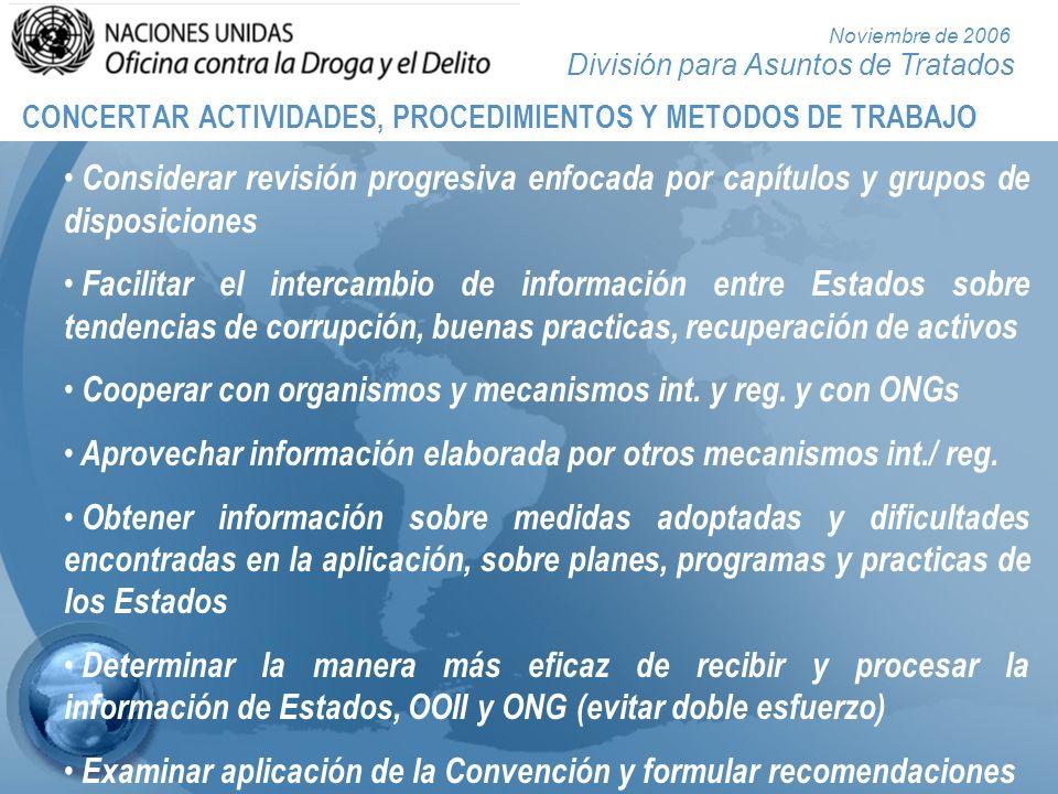 CONCERTAR ACTIVIDADES, PROCEDIMIENTOS Y METODOS DE TRABAJO