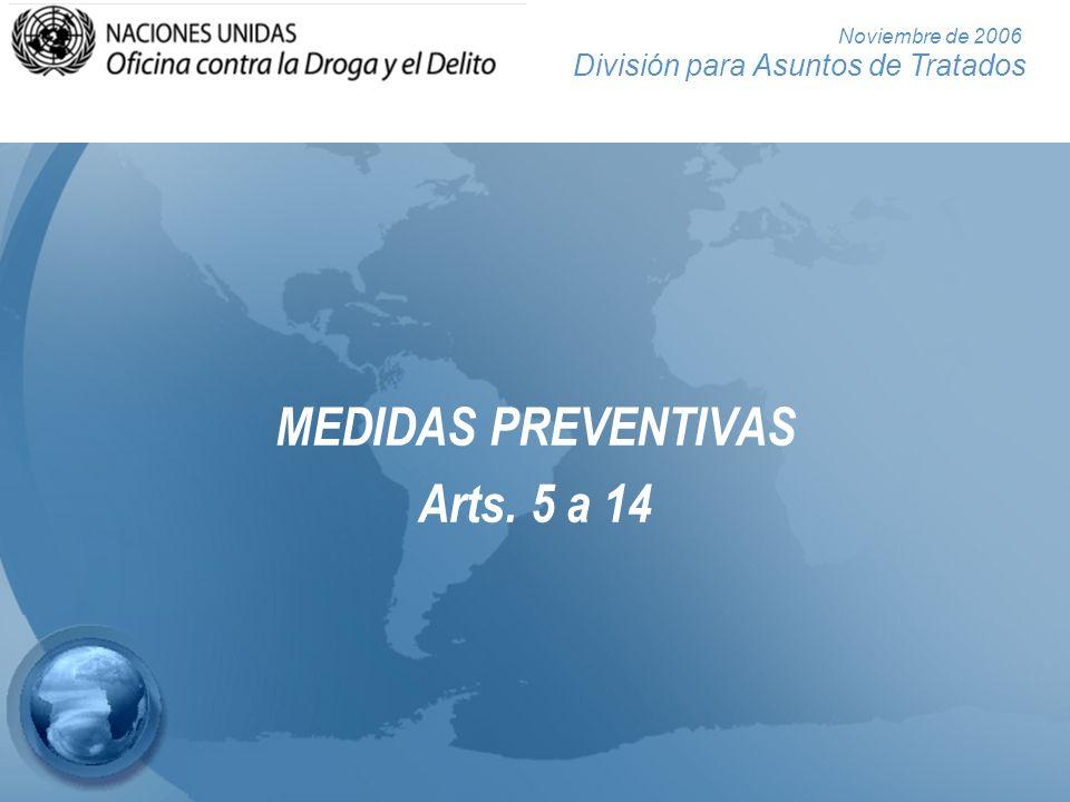 MEDIDAS PREVENTIVAS Arts. 5 a 14