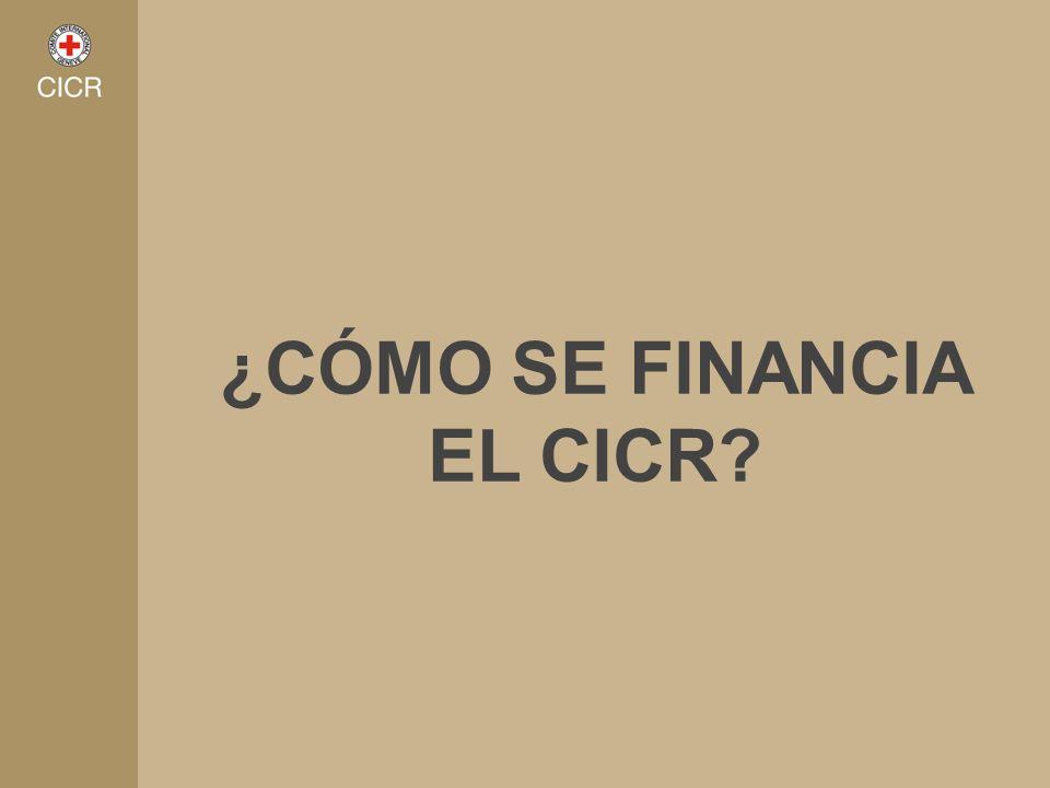 ¿CÓMO SE FINANCIA EL CICR