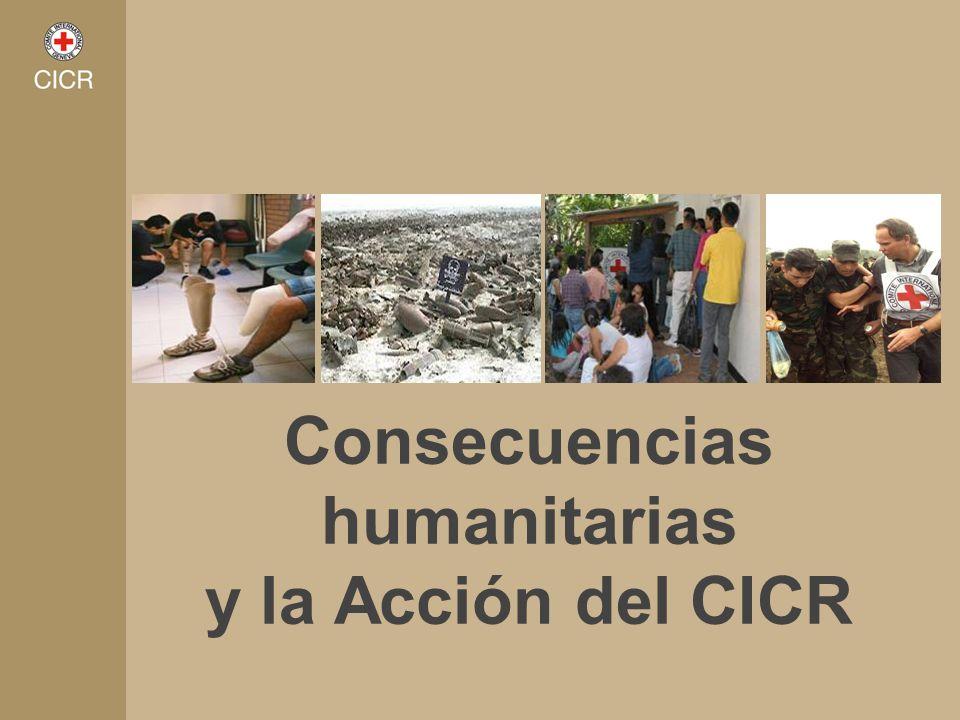 Consecuencias humanitarias y la Acción del CICR