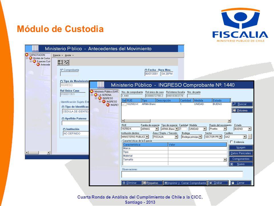 Módulo de Custodia Cuarta Ronda de Análisis del Cumplimiento de Chile a la CICC, Santiago - 2013
