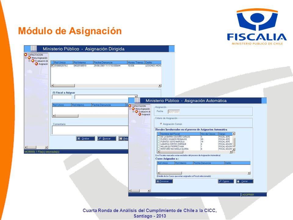 Módulo de Asignación Cuarta Ronda de Análisis del Cumplimiento de Chile a la CICC, Santiago - 2013
