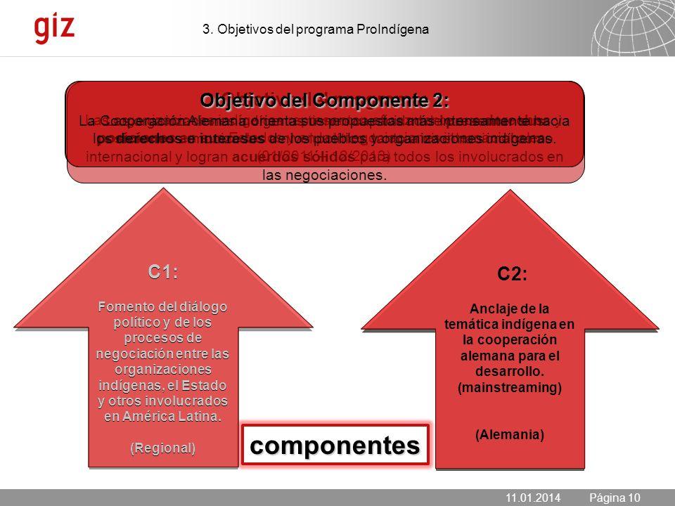 Objetivo del Componente 2:
