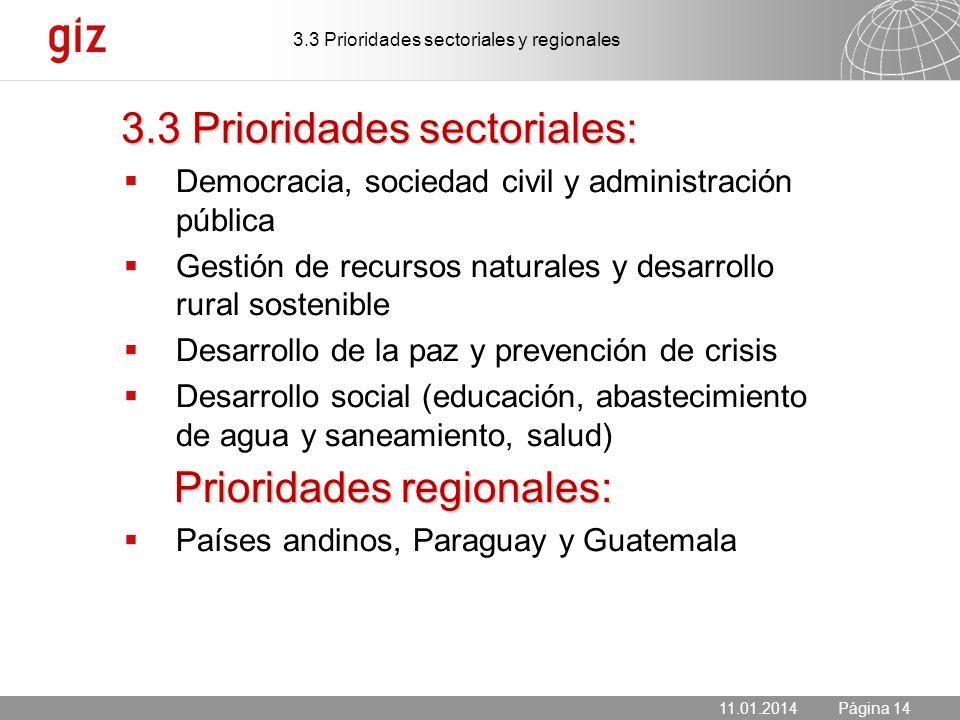 3.3 Prioridades sectoriales: