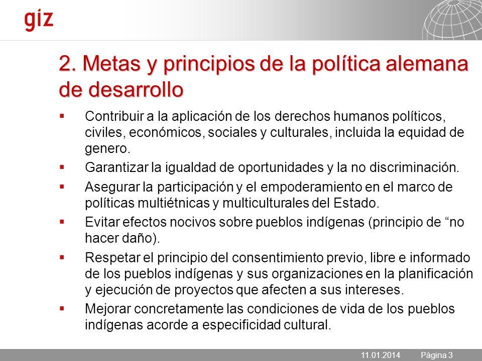2. Metas y principios de la política alemana de desarrollo