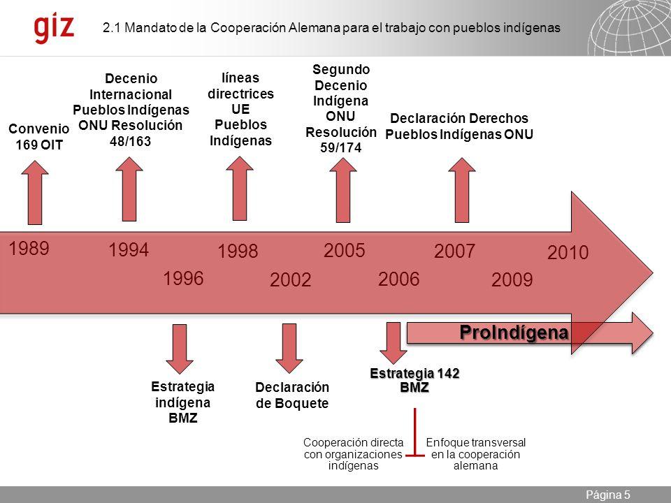 2.1 Mandato de la Cooperación Alemana para el trabajo con pueblos indígenas