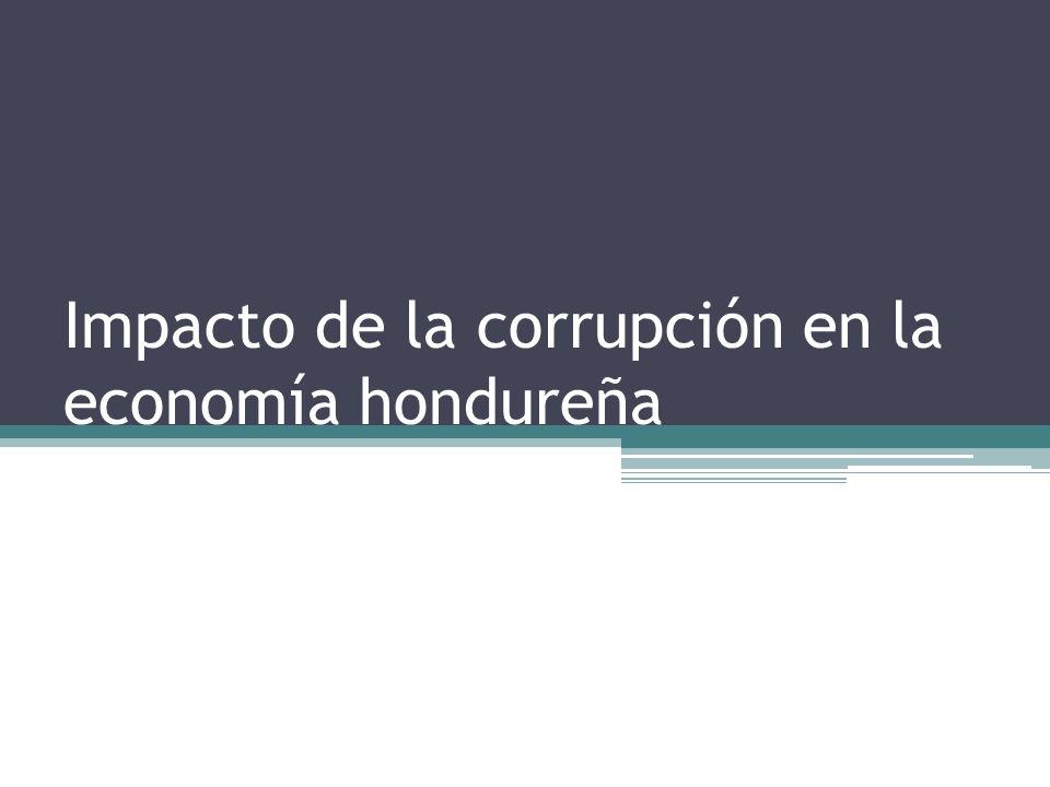 Impacto de la corrupción en la economía hondureña