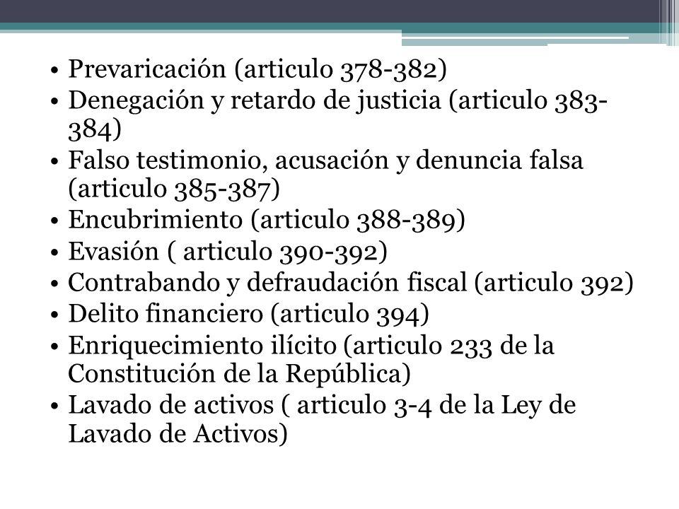 Prevaricación (articulo 378-382)