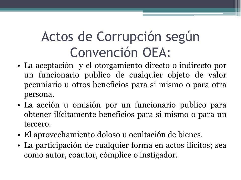Actos de Corrupción según Convención OEA:
