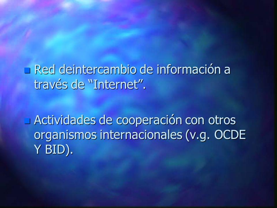 Red deintercambio de información a través de Internet .