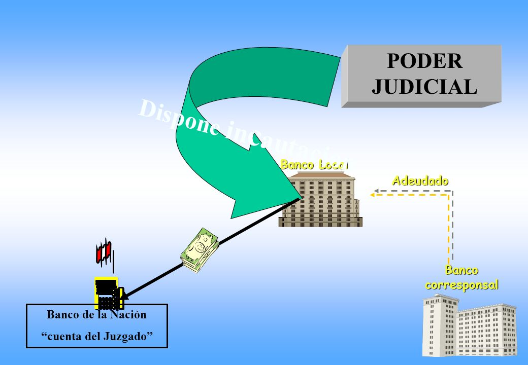 Dispone incautacion PODER JUDICIAL Banco Local Adeudado