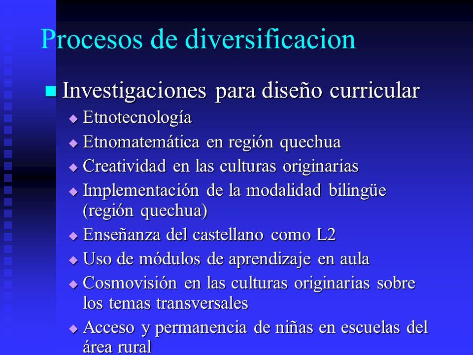 Procesos de diversificacion