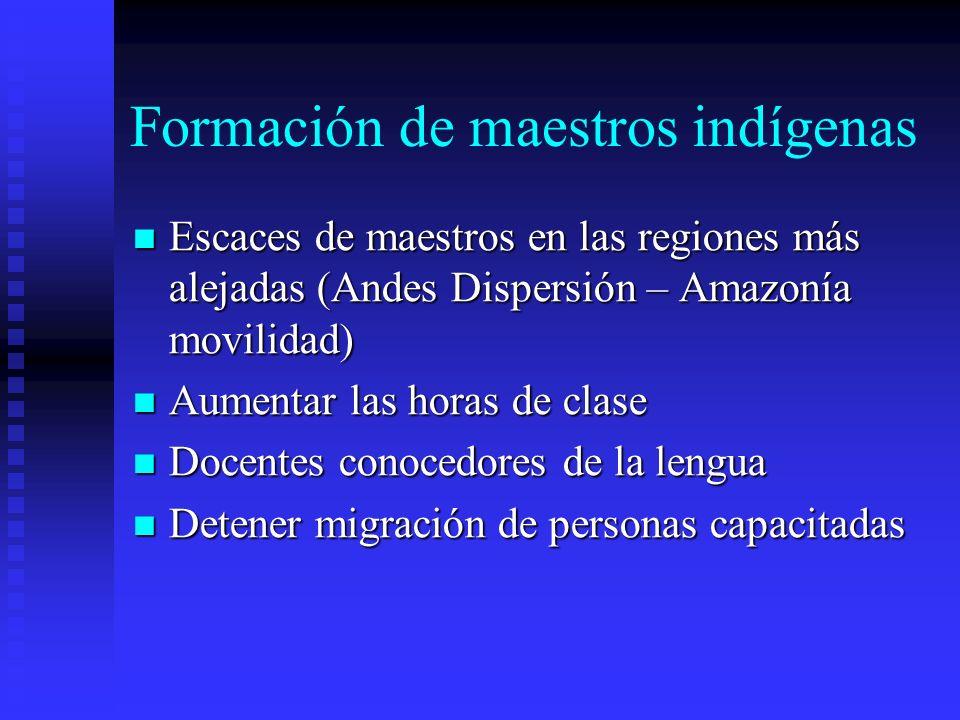 Formación de maestros indígenas