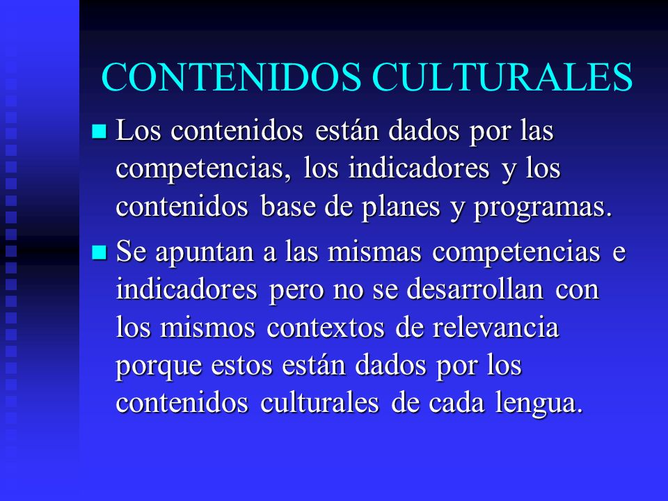 CONTENIDOS CULTURALES