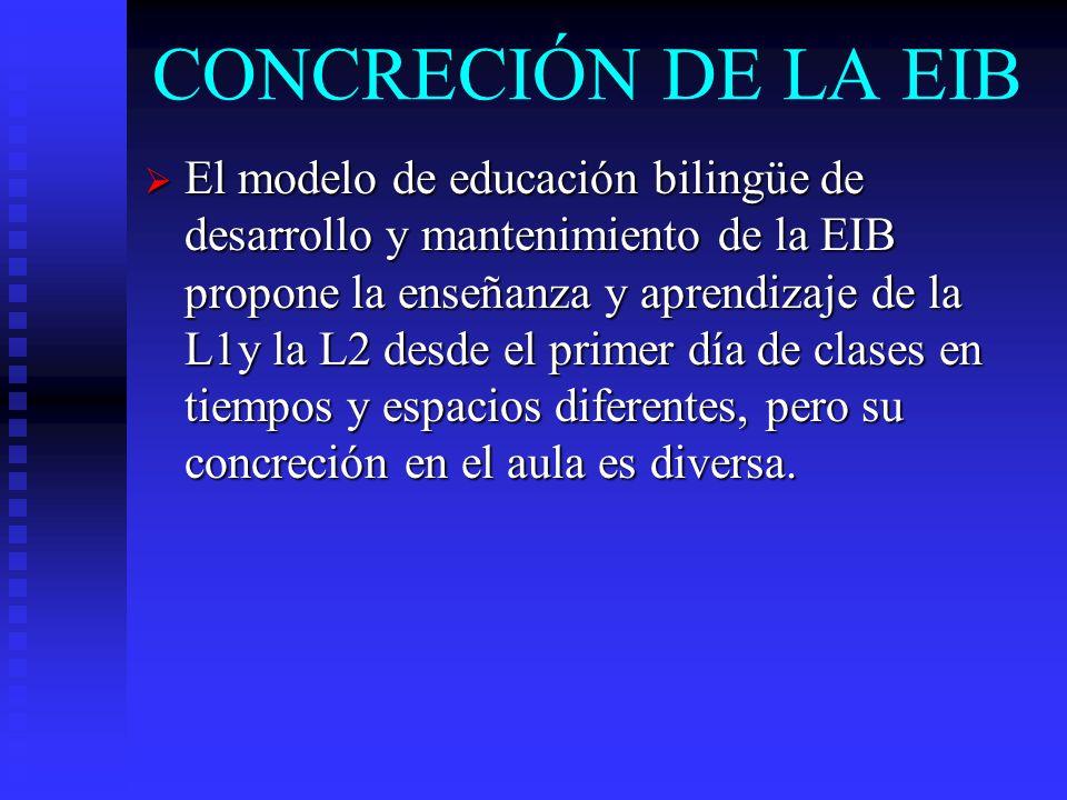 CONCRECIÓN DE LA EIB