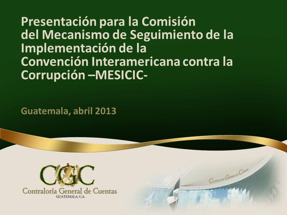 Presentación para la Comisión