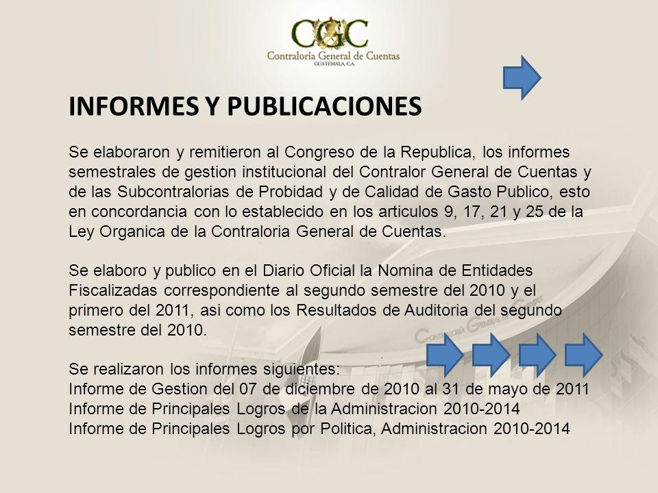 INFORMES Y PUBLICACIONES