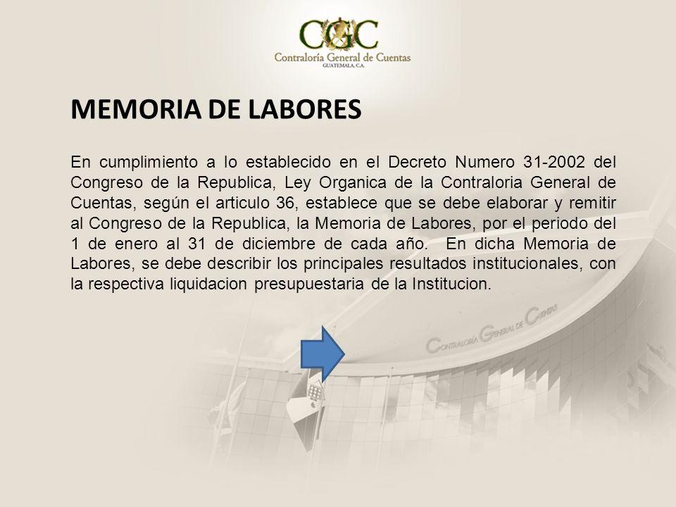 MEMORIA DE LABORES