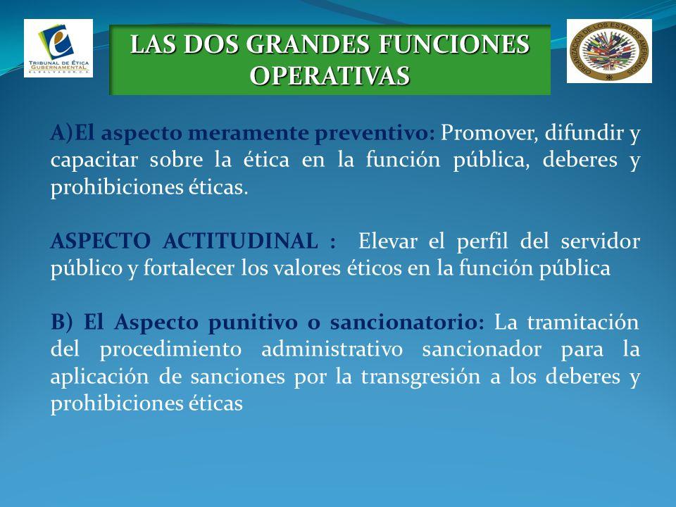 LAS DOS GRANDES FUNCIONES OPERATIVAS