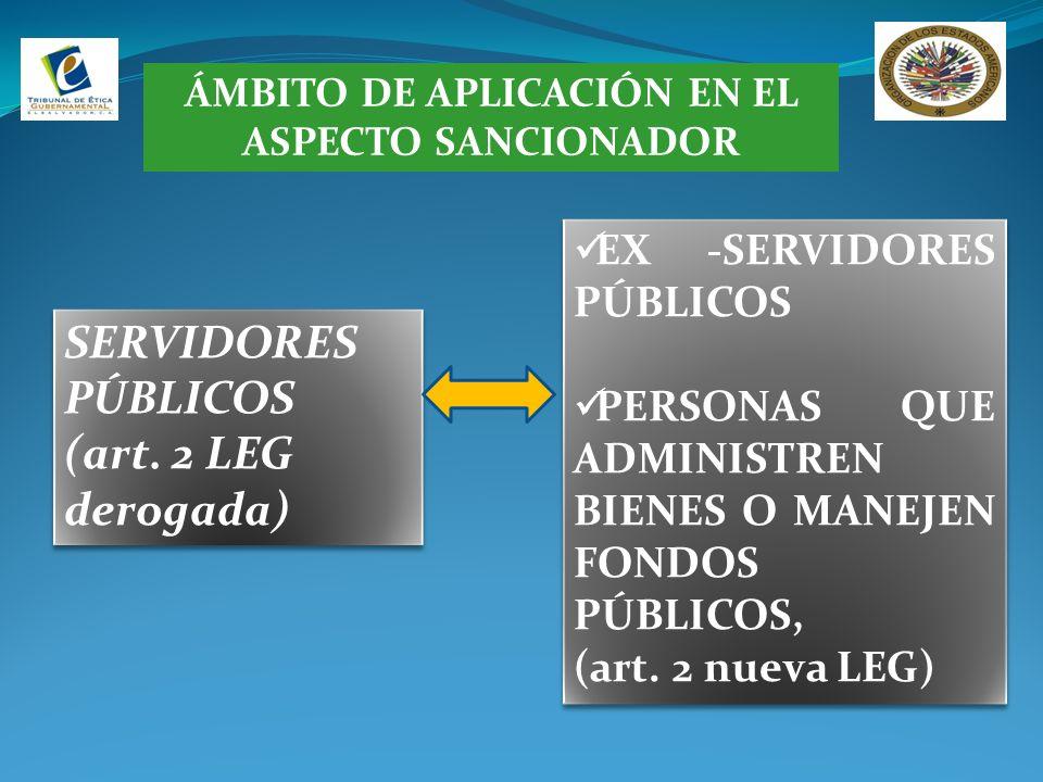 ÁMBITO DE APLICACIÓN EN EL ASPECTO SANCIONADOR