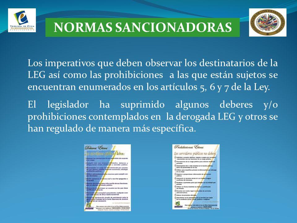 NORMAS SANCIONADORAS