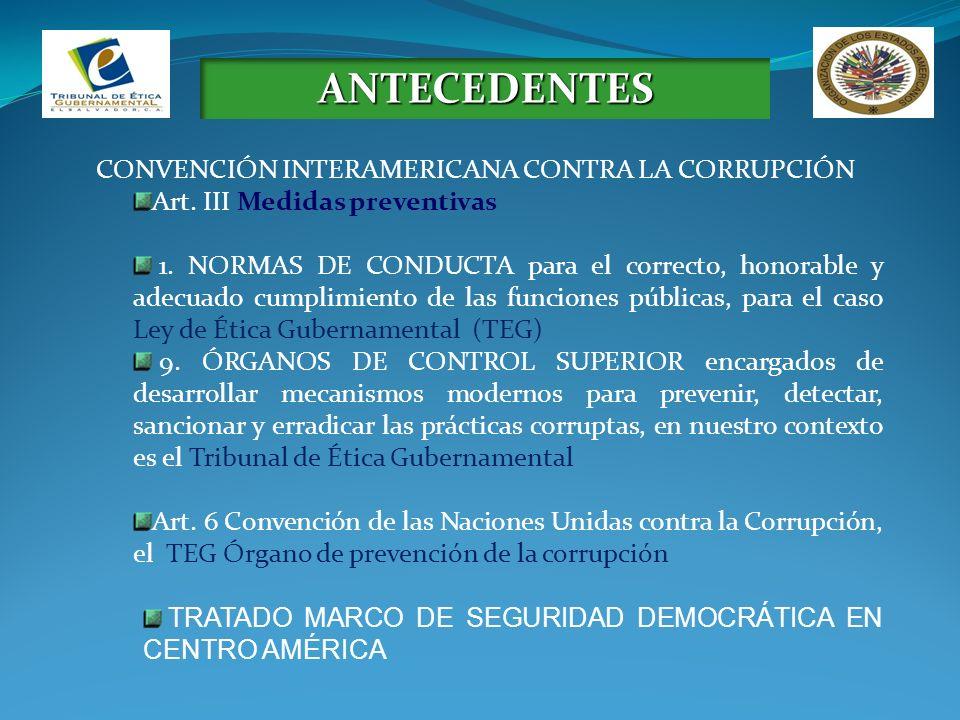 ANTECEDENTES CONVENCIÓN INTERAMERICANA CONTRA LA CORRUPCIÓN