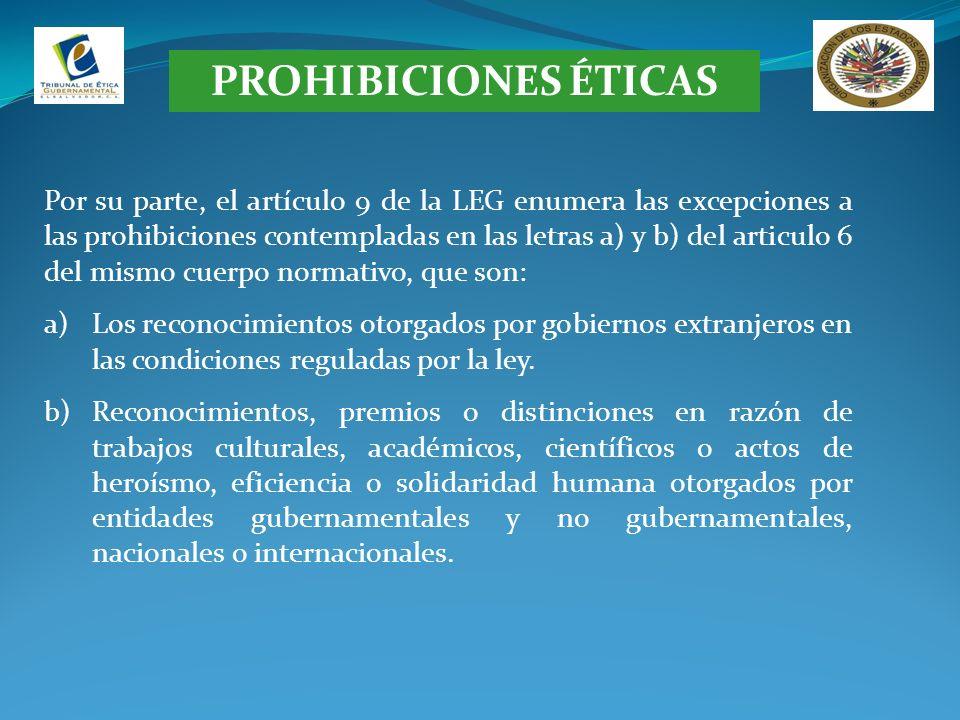 PROHIBICIONES ÉTICAS