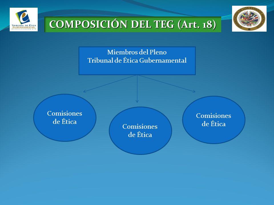 COMPOSICIÓN DEL TEG (Art. 18)