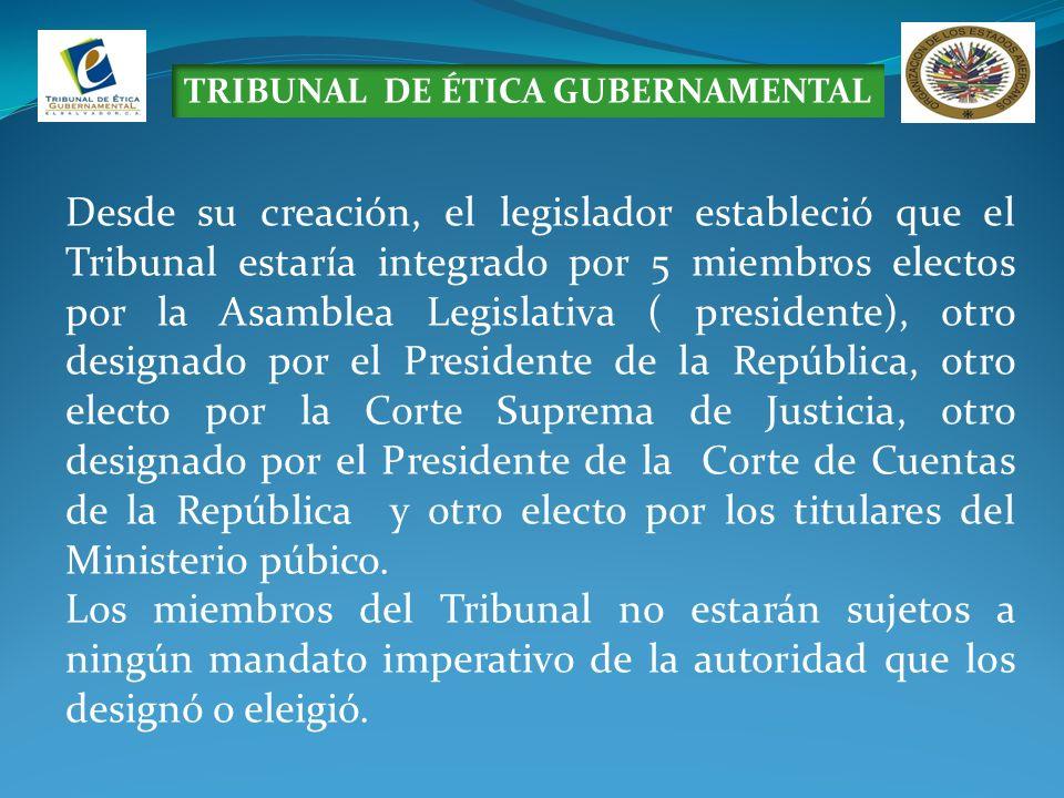 TRIBUNAL DE ÉTICA GUBERNAMENTAL