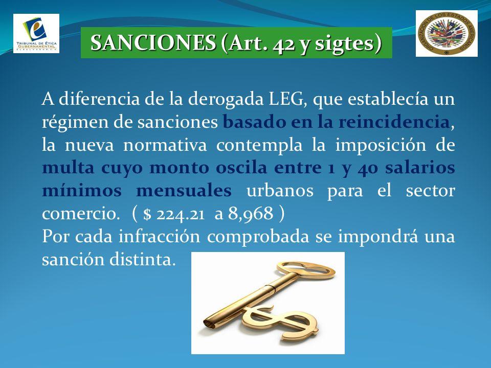 SANCIONES (Art. 42 y sigtes)