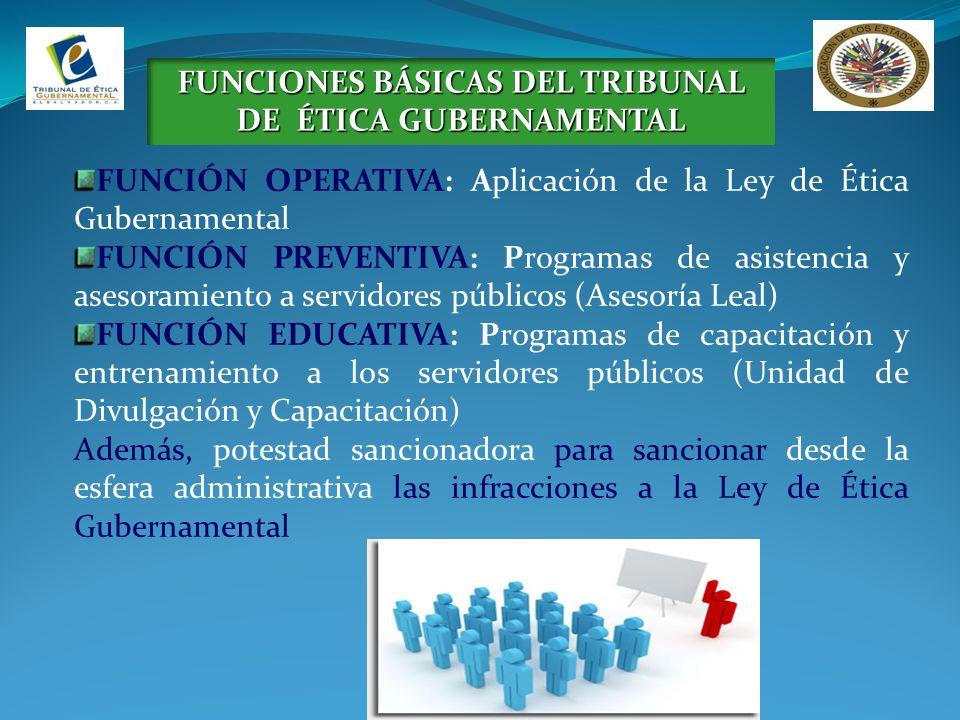 FUNCIONES BÁSICAS DEL TRIBUNAL DE ÉTICA GUBERNAMENTAL