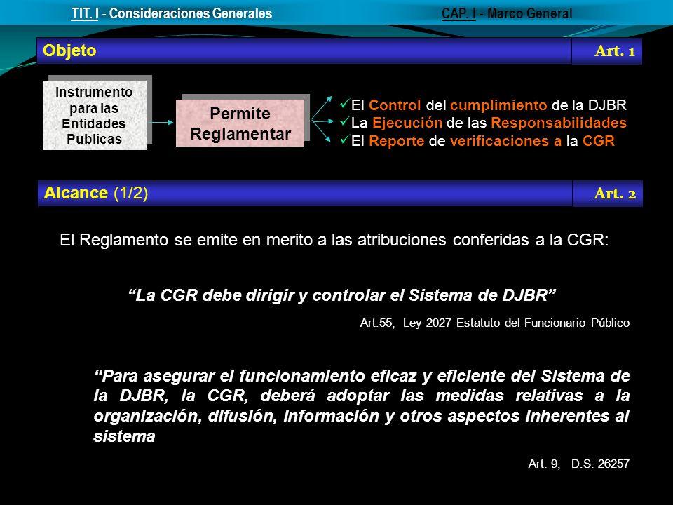 La CGR debe dirigir y controlar el Sistema de DJBR