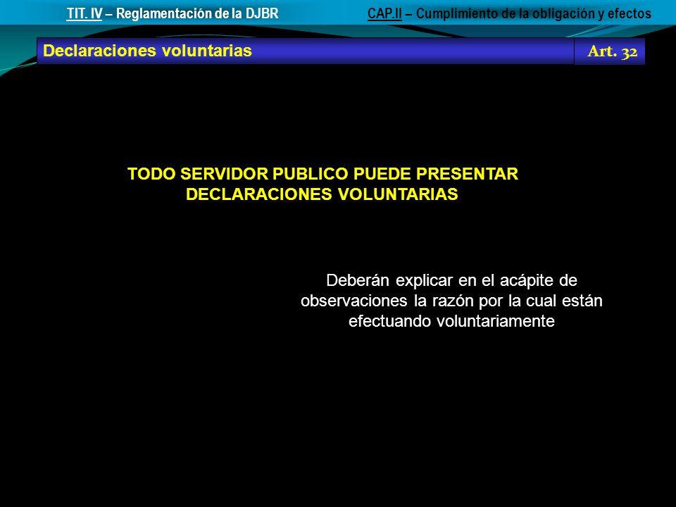 TODO SERVIDOR PUBLICO PUEDE PRESENTAR DECLARACIONES VOLUNTARIAS