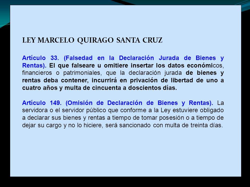 LEY MARCELO QUIRAGO SANTA CRUZ