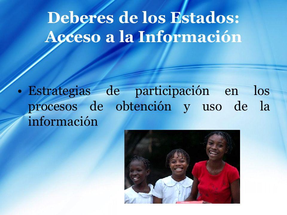 Deberes de los Estados: Acceso a la Información