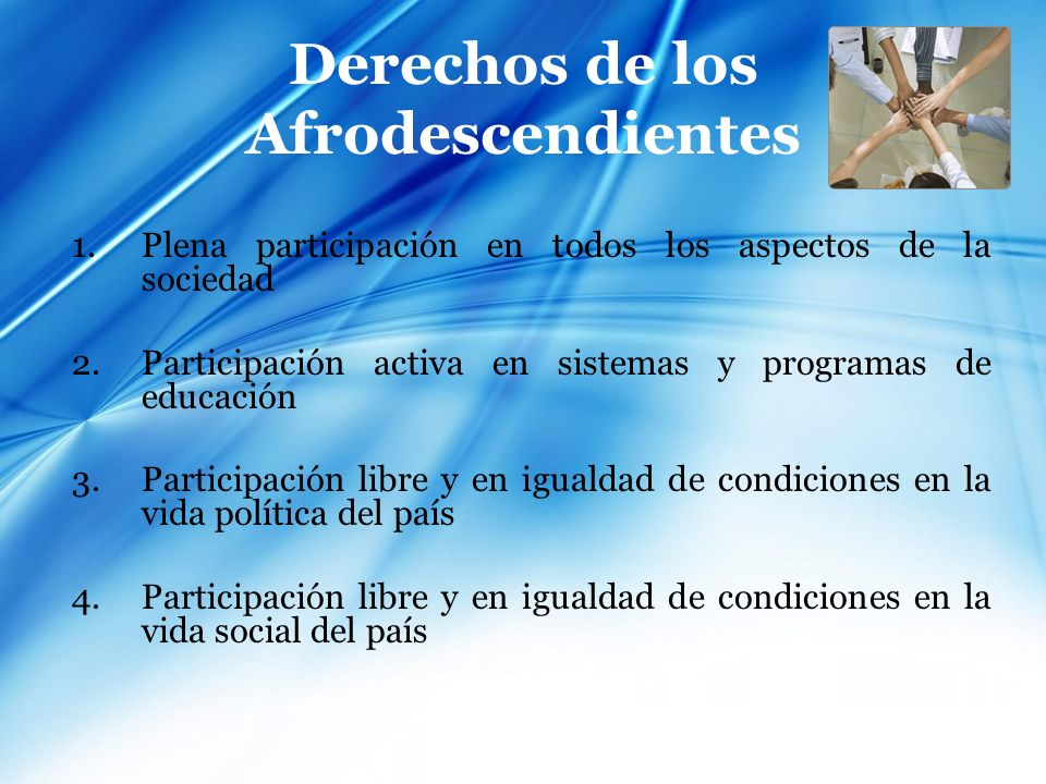Derechos de los Afrodescendientes