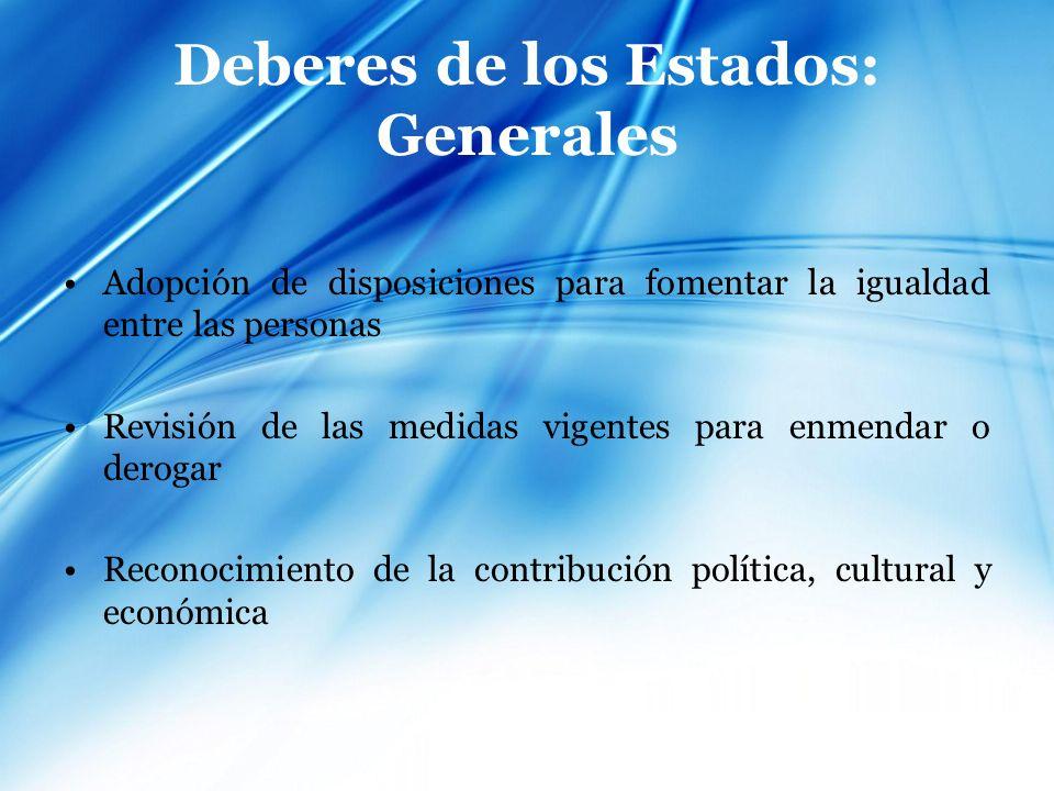 Deberes de los Estados: Generales