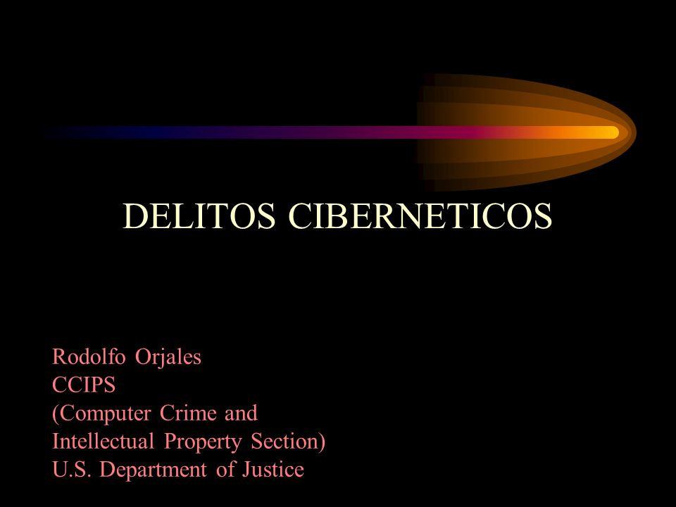 DELITOS CIBERNETICOS Rodolfo Orjales CCIPS (Computer Crime and