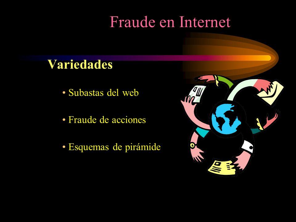 Fraude en Internet Variedades Subastas del web Fraude de acciones