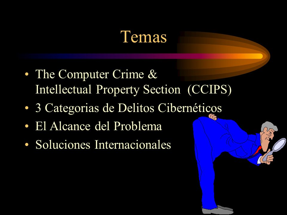 Temas The Computer Crime & Intellectual Property Section (CCIPS)