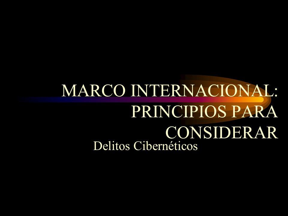 MARCO INTERNACIONAL: PRINCIPIOS PARA CONSIDERAR