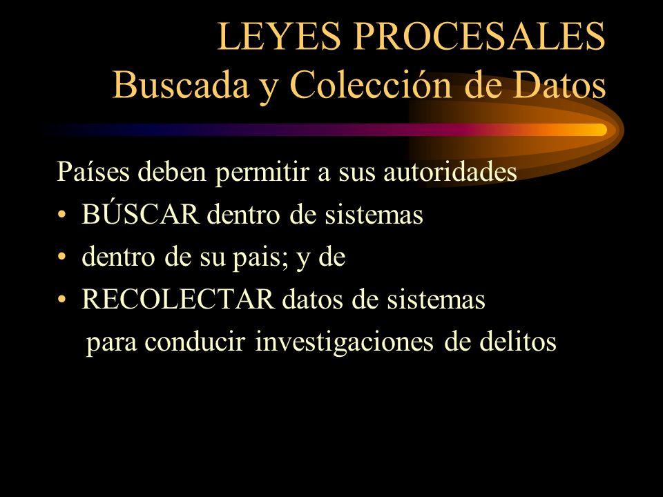 LEYES PROCESALES Buscada y Colección de Datos