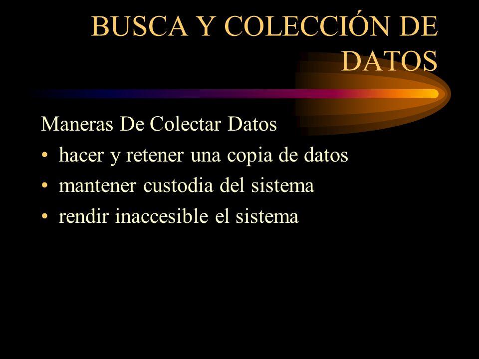 BUSCA Y COLECCIÓN DE DATOS