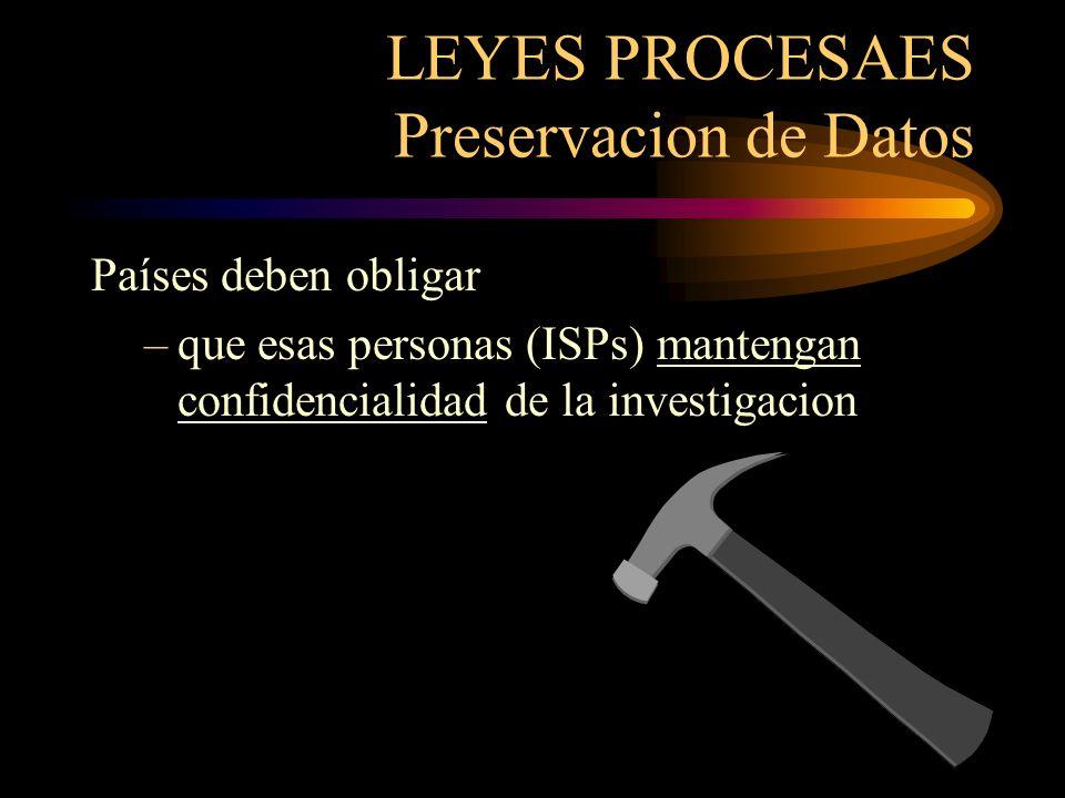 LEYES PROCESAES Preservacion de Datos