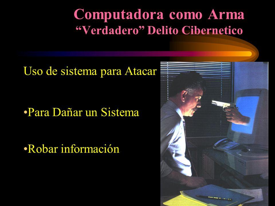 Computadora como Arma Verdadero Delito Cibernetico
