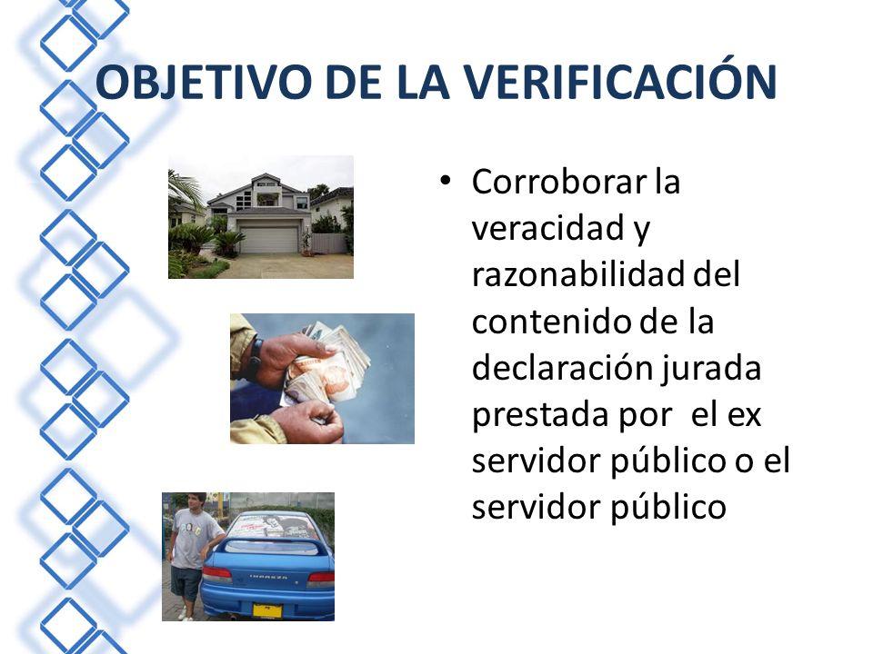 OBJETIVO DE LA VERIFICACIÓN