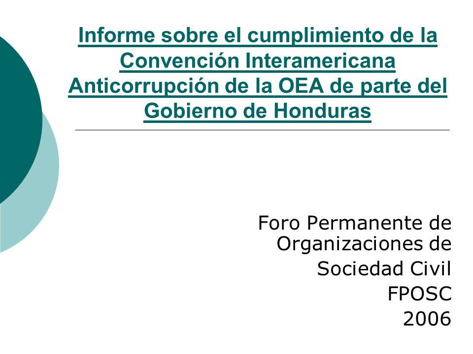 Foro Permanente de Organizaciones de Sociedad Civil FPOSC 2006