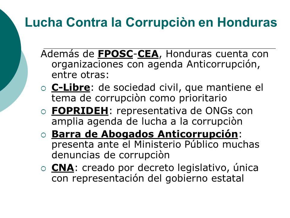 Lucha Contra la Corrupciòn en Honduras