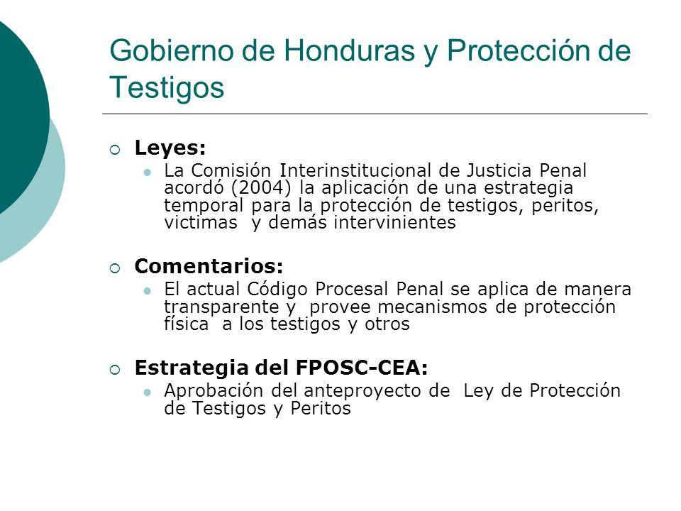 Gobierno de Honduras y Protección de Testigos